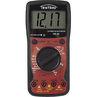 Handheld multimeter digital Testboy TB 65 Calibrated to: Manufacturer's standards (no certificate) Display (counts): 1