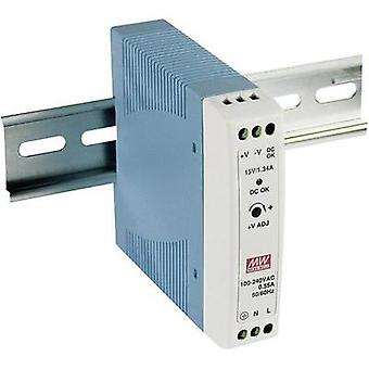 Rail mounted PSU (DIN) Mean Well MDR-20-24 24 Vdc 1 A 24 W 1 x