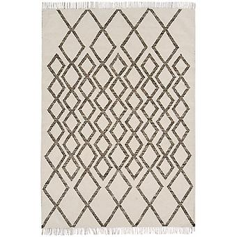 Hackney Kelims Diamond taupe Ivory and Taupe  Rectangle Rugs Modern Rugs