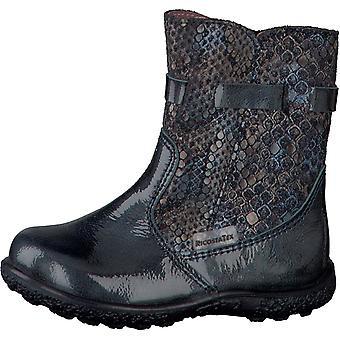 Ricosta Pepino Girls Sanji Waterproof Boots Indaco Blue Patent