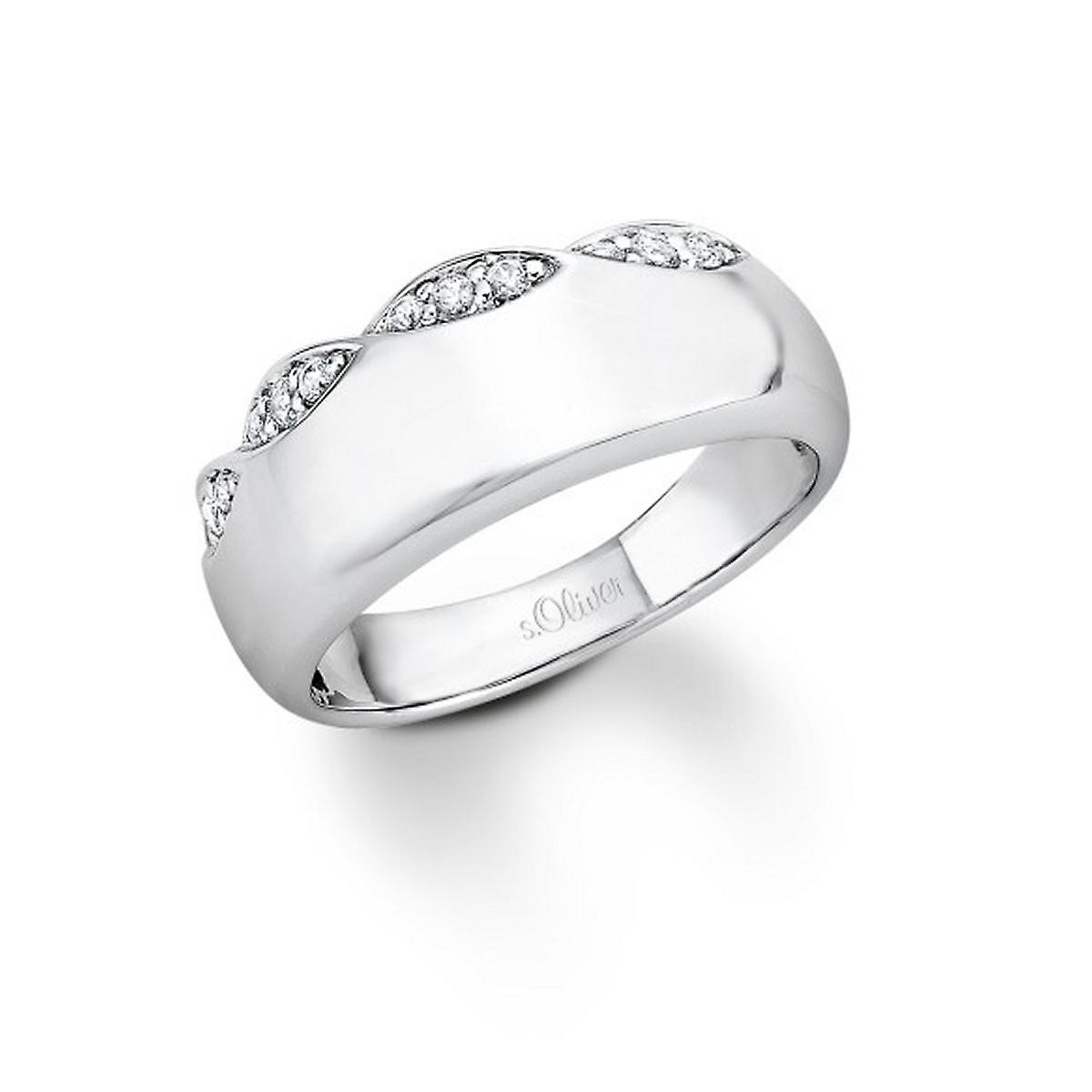 s.Oliver Jewel ladies ring silver Zirkonia SO741