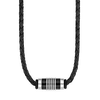 s.Oliver jewel men's leather chain stainless steel 2012595