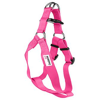 Doodlebone Bold Nylon Harness Pink Extra Large 25mm X80-90cm