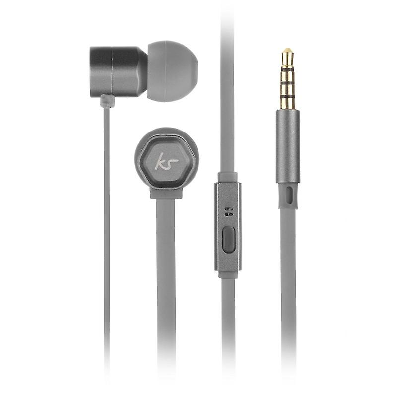 KITSOUND Headphone Hive Gray In-Ear Mic