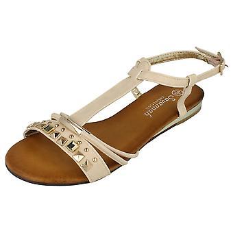 Damer Savannah flad ankel rem besat sandaler