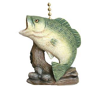 Gået fiskeri store bas Decor loft Fan lys Pull