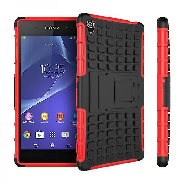 Hybrid Case 2teilig Robot Red for Sony Xperia Z3 Plus E6553 (+) and Dual