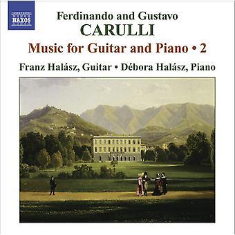 Carulli/Carulli - Ferdinando och Gustavo Carulli: musik för gitarr och Piano, Vol. 2 [CD] USA import