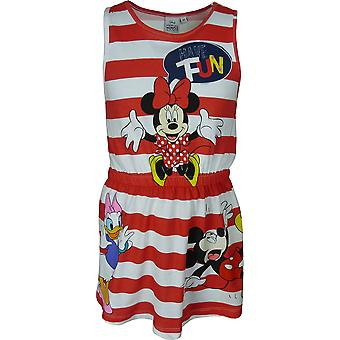 Disney Minnie Mouse Girls Summer Dress Sleeveless