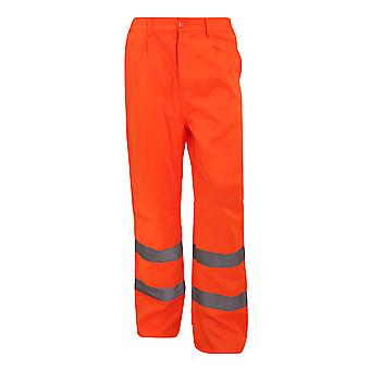 Yoko Workwear Mens Hi-Vis Polycotton Work Trouser (Regular)