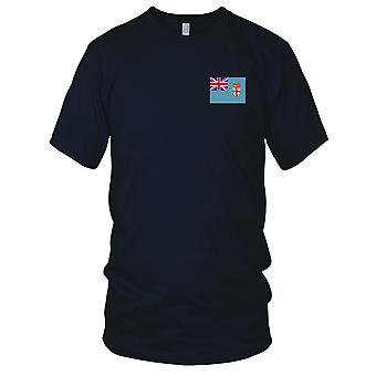 Fiji land nationale Flag - broderet Logo - 100% bomuld T-Shirt damer T Shirt