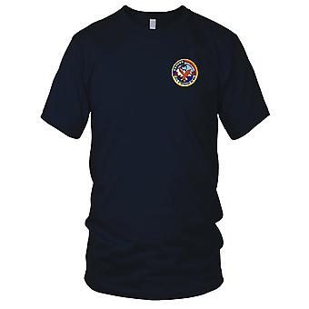US Navy DD-863 USS Steinaker Embroidered Patch - Mens T Shirt