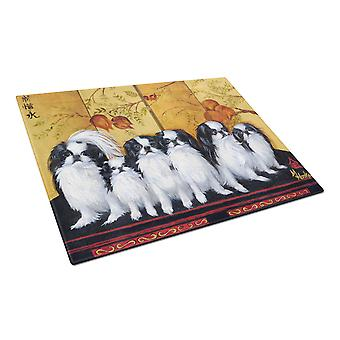 Carolines Treasures  MH1060LCB Japanese Chin Tea House Glass Cutting Board Large