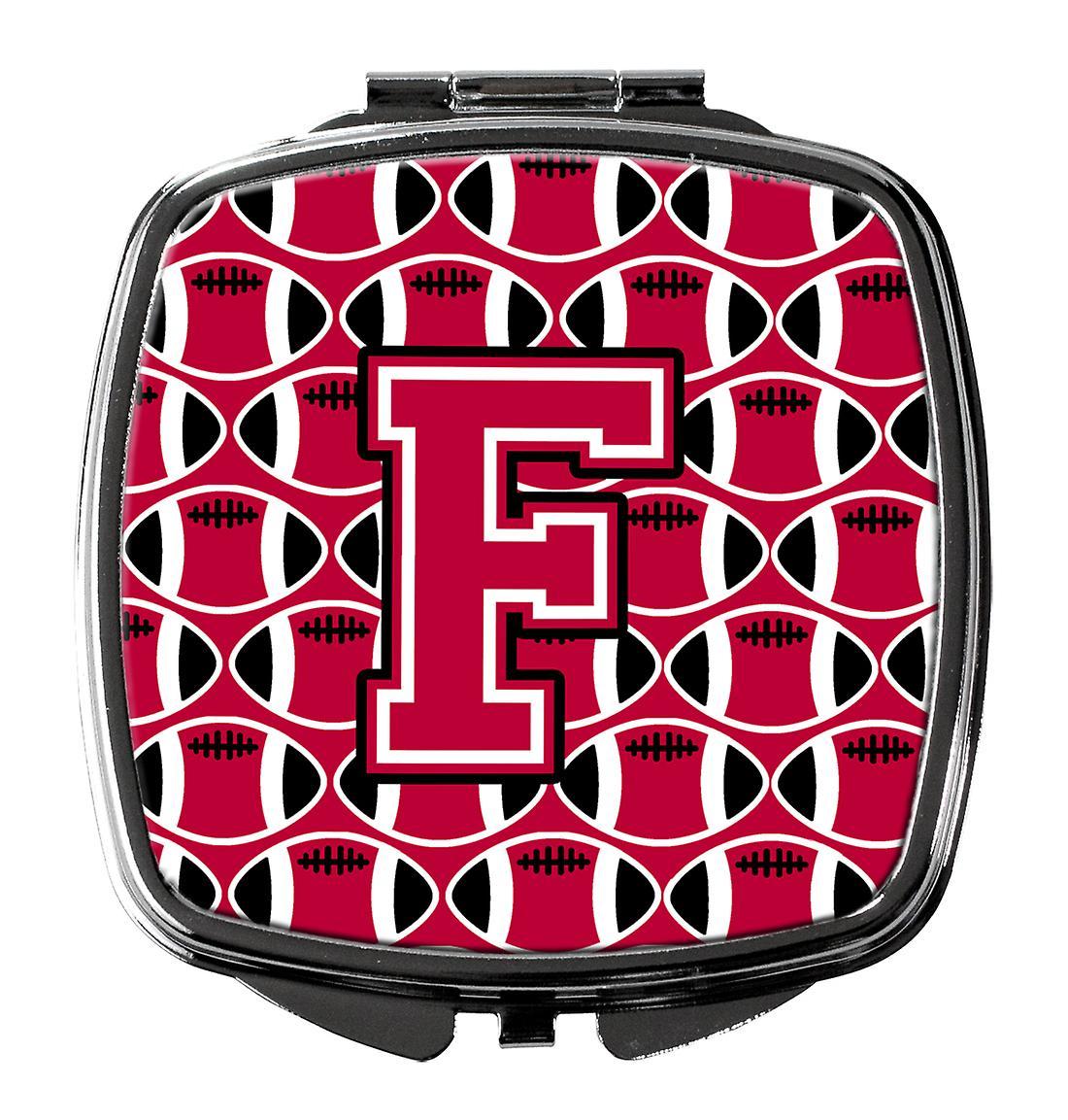 Miroir F Crimson Football Et Blanc Compact Lettre 4A5jLq3R