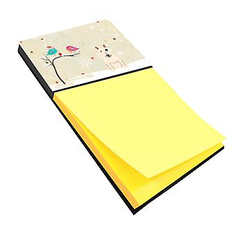 Christmas Presents between Friends Bull Terrier White Sticky Note Holder