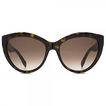 Alexander McQueen Piercing Detail Cateye Sunglasses In Havana