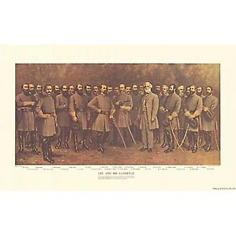 Robert E Lee and his Generals Poster Print by Fred Mathews (24 x 15)