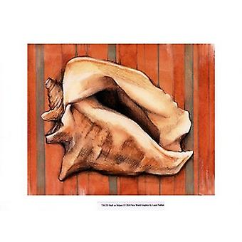 Shell on Stripes I Poster Print by Laura Nathan (13 x 10)