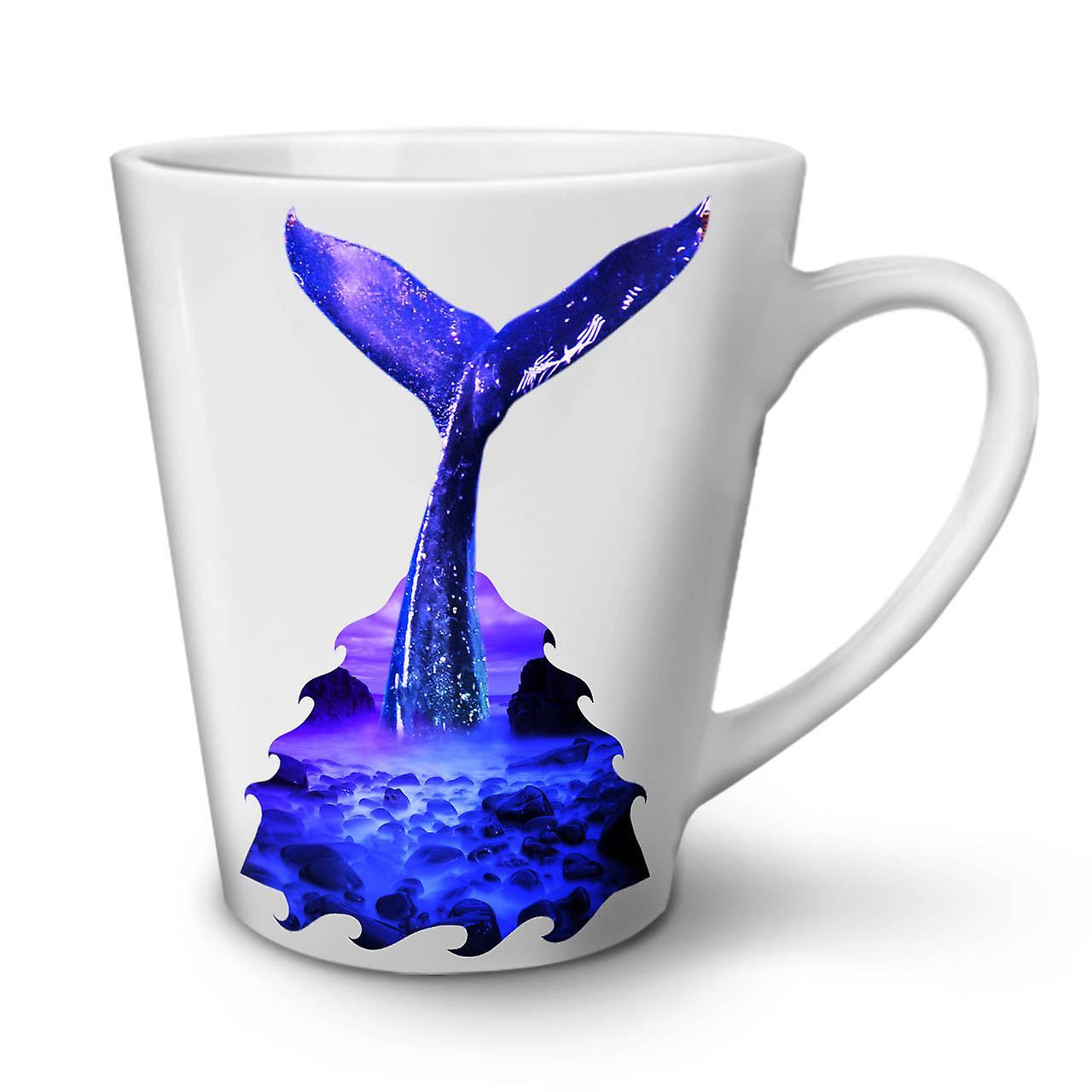 OzWellcoda Tasse Céramique Latte Plongée En 12 Nouvelle Bleue Café Blanche Baleine W9bDe2IEYH