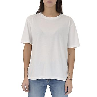 Saint Laurent Damen 482442YB2JG9503 Weiss Baumwolle T-Shirt