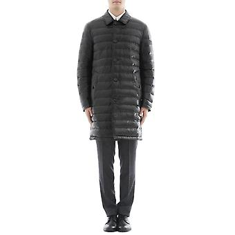 Burberry men's 4056791 black nylon coat