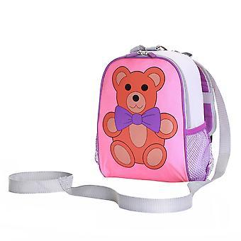 Vaklende skov Teddy buksetrold rygsæk med sikkerhed tøjler, Pink/lilla