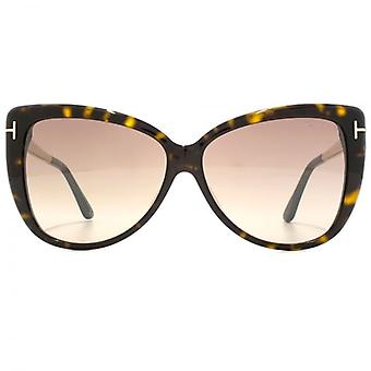 Tom Ford Reveka Sunglasses In Dark Havana