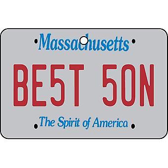 Massachusetts - Best Son License Plate Car Air Freshener