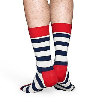 Happy Socks stribe sokker - hvid