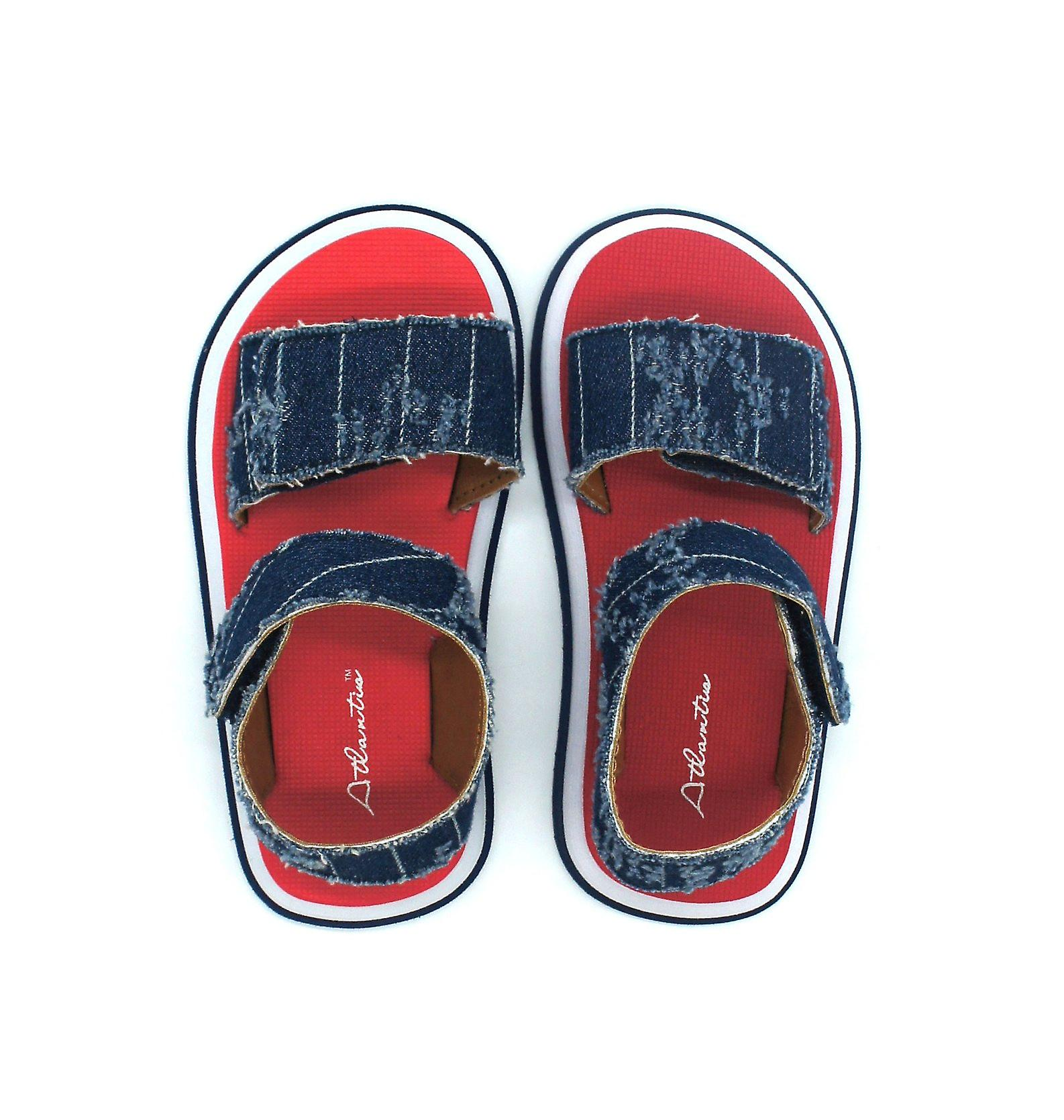 Atlantis Shoes Kids Unisex Girls & Boys Supportive Cushioned Comfortable Sandals Cowboy Red