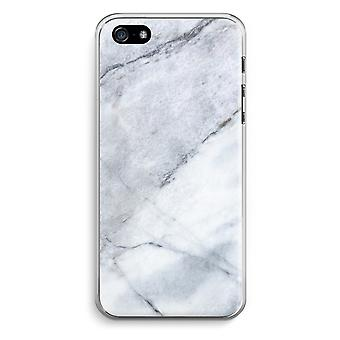 iPhone 5 / 5S / SE Transparent Case (Soft) - Marble white