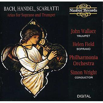 J.S. Bach - Bach, Händel, Scarlatti: Arias för sopran & Trumpet [CD] USA import