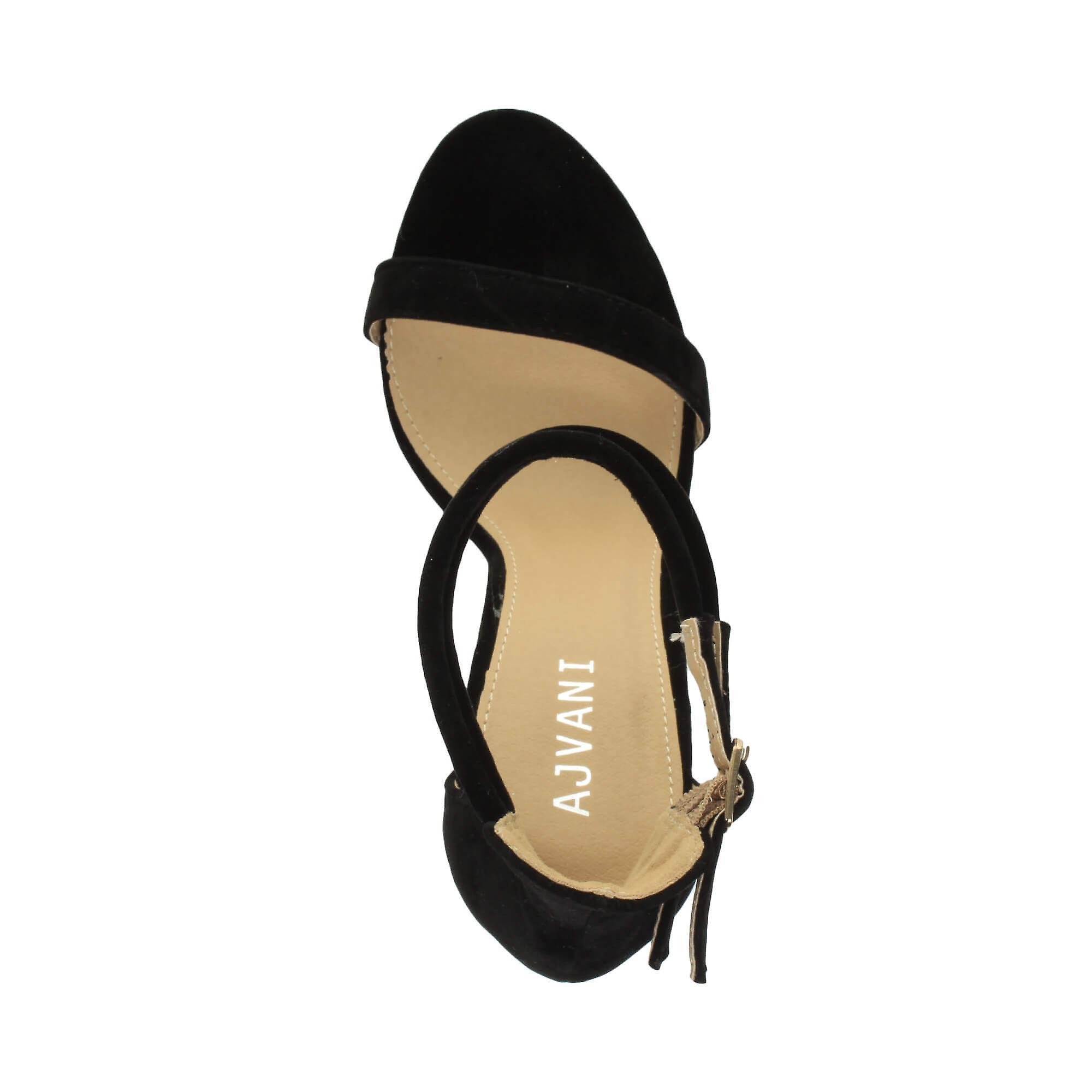 c2aa2921b08 Ajvani womens hög stilettklack knappt det dubbel rem spänne fest sandaler  skor