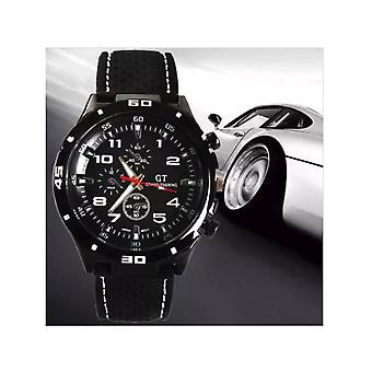 Men's Black GT Sports Watch With White Markers BGWHT1