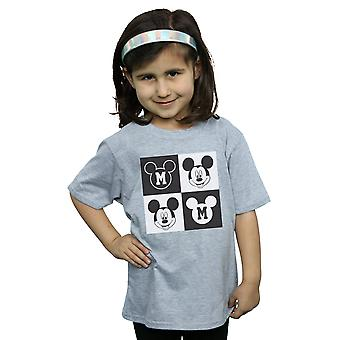 Disney Girls Mickey Mouse Smiling Squares T-Shirt