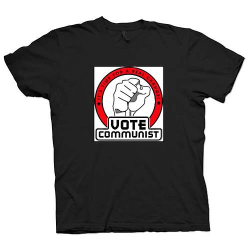 Mens T-shirt - Vote Communist Real Change