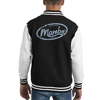 Mambo Oval Logo Light Kid's Varsity Jacket