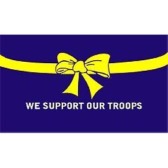 La bandera azul de las tropas de la ayuda 5 pies x 3 pies con ojales