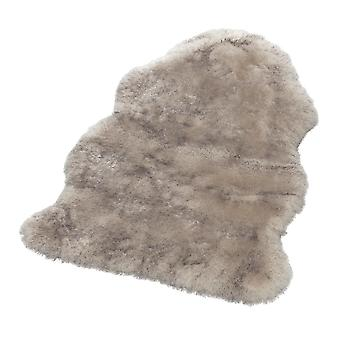Soft faux fur rug in coat form superior cream nature Dipdye
