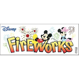 Disney Title Dimensional Stickers-Mickey - Fireworks