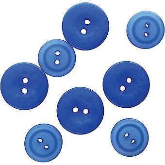 Button Up! Snack Pack Buttons 8/Pkg-Serene