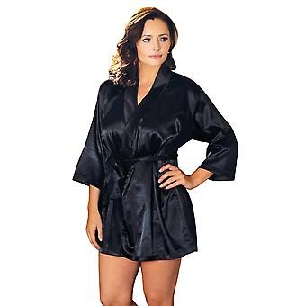 Plus Size helfigur klassiska Satin Robe