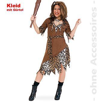 Señoras de edad de piedra traje hombre primitivo traje traje de las señoras de la mujer fuerte de piedra