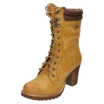 Ladies Spot On Mid Calf Boots F50323