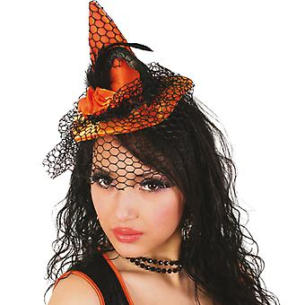 Witches Hat mini Hat witch hair clip veil Halloween