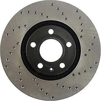 StopTech 128.33107L Sport Cross Drilled Brake Rotor (Front Left), 1 Pack