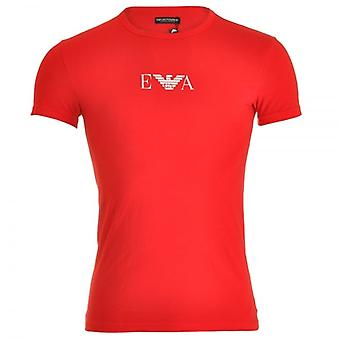Emporio Armani Fashion Stretch Cotton Crew Neck T-Shirt, Red, Medium