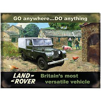 Land Rover Go Anywhere Do Anything Small Metal Sign 200Mm X 150Mm