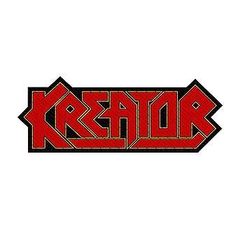 Kreator Cut-Out Logo tessuto Patch