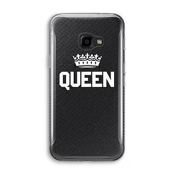 サムスン銀河 XCover 4 透明ケース (ソフト) - 女王ブラック